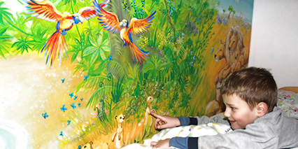 Wandgestaltung kinderzimmer for Wandmalerei kinderzimmer